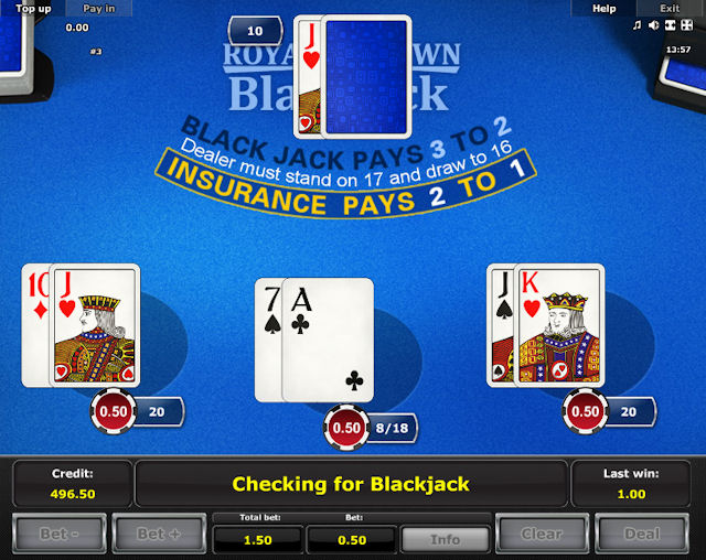 Online-spel Royal Crown Blackjack gratis
